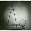 Theme Center - Trylon and Perisphere - Model of Trylon and Perisphere made from wire and glass