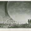 Theme Center - Trylon and Perisphere - Sketch of Trylon and Perisphere