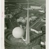 Theme Center - Trylon and Perisphere - Aerial view