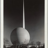 Theme Center - Trylon and Perisphere - View across lot
