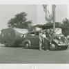 Transportation to Fair - Women with car and trailer