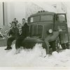 Trucks - Two women sitting on snowplow