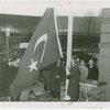 Turkey Participation - Officials raising flag