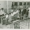 Typical American Family - Large family going through turnstile