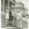 Typical American Family - Burdin family walking with Claude Pepper
