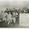 Typical American Family - Burdin family at dedication of houses listening to Harvey Gibson speak