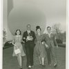 Typical American Family - Burdin family walking in front of Trylon and Perisphere