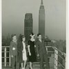 Typical American Family - Moushey family parents with Burdin family children on roof of New Yorker Hotel