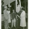 Typical American Family - Madison family raising Massachusetts flag with Harvey Gibson