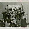 Underwood Elliott Fisher Co. - Group posing with giant typewriter