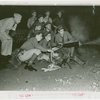 United States - Army - New York National Guard in mock battle in amusement area
