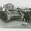 United States - Army - Veterans inspect tank