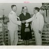 United States - Navy - Fiorello LaGuardia greeting admiral and wife at Summer City Hall