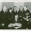 United States - Navy - Charles Edison (Acting Secretary of U.S. Navy) signs guestbook