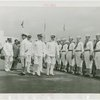 United States - Navy - Parade - Admiral and lieutenant reviewing honor guard