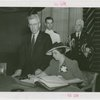 Vermont Participation - Mrs. Aiken (Governor's wife) signing guestbook