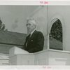 Vermont Participation - George Aiken (Governor) giving speech at dedication