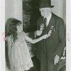 Veterans - Civil War - Veteran explaining metals to girl