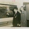 Veterans - Civil War - Veteran and man looking at exhibit