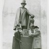Veterans - Civil War - Veterans with Lincoln Statue and picture of General Lee