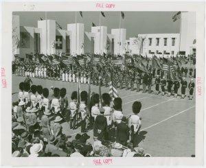 Veterans - Spanish War - Patriotic exercises in Court of Peace