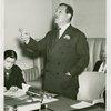 Veterans - Temple of Peace - Grover Whalen addressing meeting of Veterans' Advisory Committee