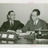 Victoria Falls Exhibit - Norman Yule and Howard Flanigan signing contracts
