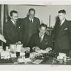 Westinghouse - Grover Whalen and officials at table with electrified objects
