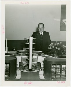 Westinghouse - Building - Man inspecting model