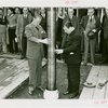 Westinghouse - Time Capsule - Grover Whalen and official lowering time capsule in ground while crowd watches