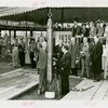 Westinghouse - Time Capsule - Grover Whalen and other official lowering time capsule in ground while crowd watches