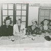 Women's Groups - Anna Neagle, Dorothy Frooks, Anna Dross and Bertha McCann at luncheon