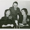 Women's Groups - Charles Poletti with wife and Mona Mac Roberts at Women Voters League meeting
