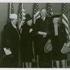 Women's Groups - Emma Balcoln, Mary Sheldon, Frederick Sasse and Edna Johnson at National Legion of Mothers meeting