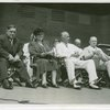 Works Progress Administration - Fiorello LaGuardia, Florence Kerr, R.D. Harrington and John Carmody at W.P.A. Day ceremony