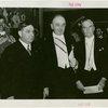 Yugoslavia Participation - Fiorello LaGuardia and Constantin Fotich (Ambassador) with man