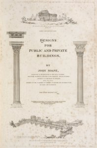 Designs for public and private buildings [Title page] / by John Soane.