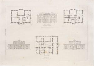 Villa. Design for Thomas Swinnerton, Esq.; Villa at Tringham, the seat of William Pread, Esq.