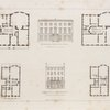 Design for a town mansion to be erected in St. James Square ; Buckingham House Pall Mall