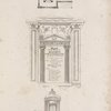 View of the domus æterna: Plan of the monument ; Entrance into the vaulted chamber