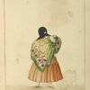 "[(""La tapada limeña."") Woman covered with head scarf  and wearing a shawl.]"