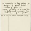 Emergency Committee interview card for Hannah Arendt