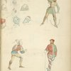 Helmets and various other pieces of armor] 1400, 1397, 1475, 1480]; Cross bowman; Cross bowman no. 1; Cross bowman no. 2