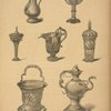 Metal vessels after paintings by old German and Dutch masters.