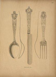 Silver table ware.