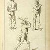 Three studies of male figures