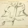 Studies of two figures pushing against a pillar