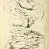 Six studies of male figures in various prone and supine positions