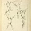 Four studies of crucified figures