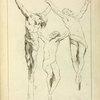 Three studies of crucified figures